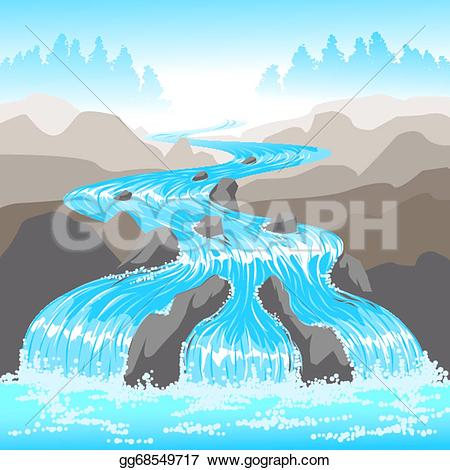River flow clipart picture Clip Art Vector - Raging river. Stock EPS gg68549717 - GoGraph picture