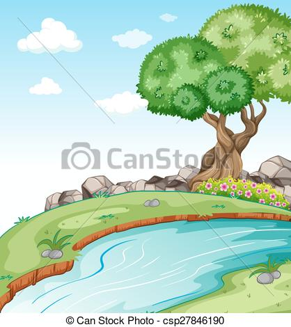 River flow clipart image transparent library Clipart Vector of A flowing river - Illustration of a flowing ... image transparent library