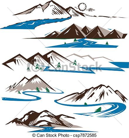 River logo clipart clipart transparent Clipart Vector of Mountains and Rivers - Clip art collection of ... clipart transparent