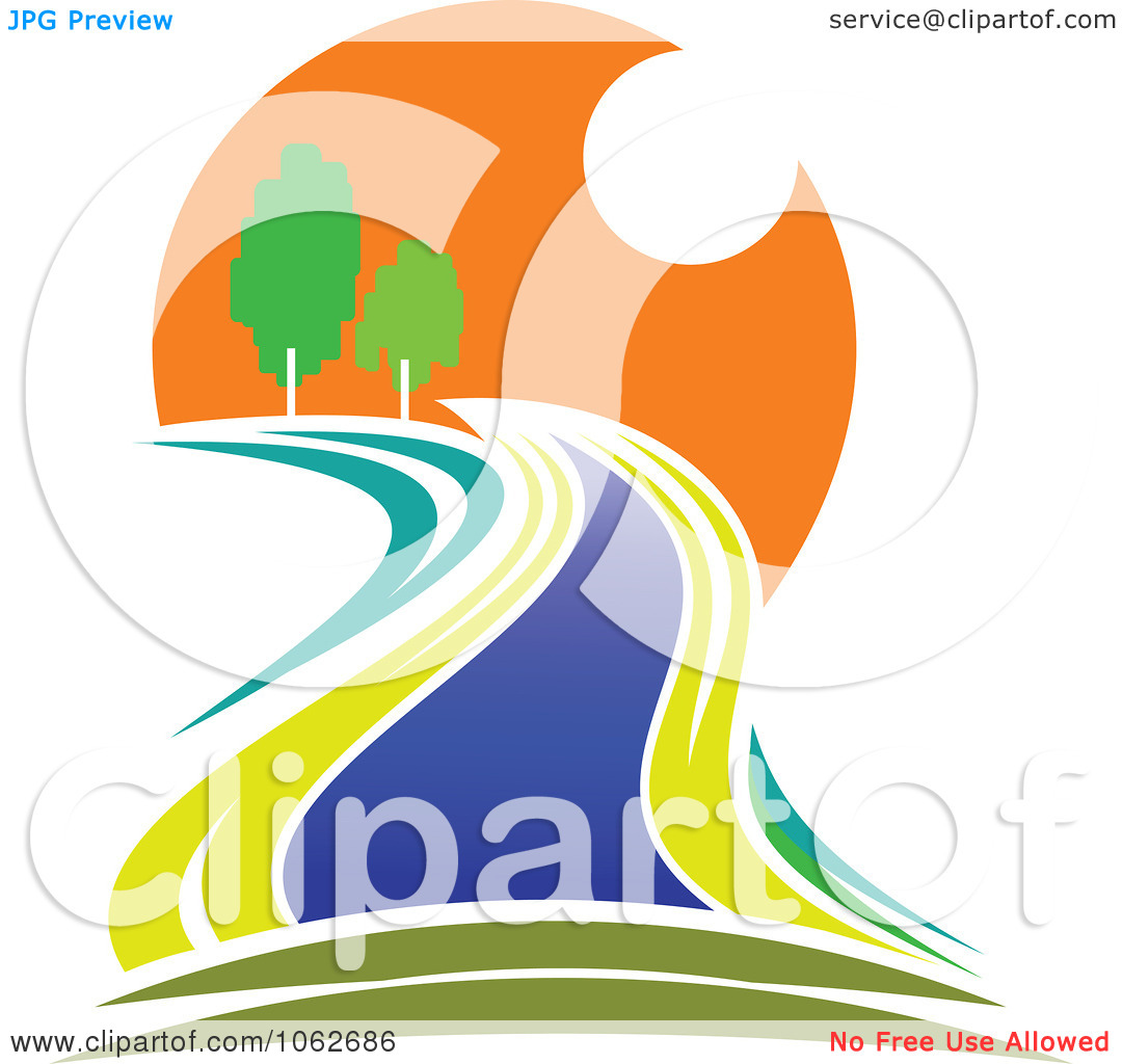 River logo clipart clipart library download Clipart Nature And River Logo 1 - Royalty Free Vector Illustration ... clipart library download