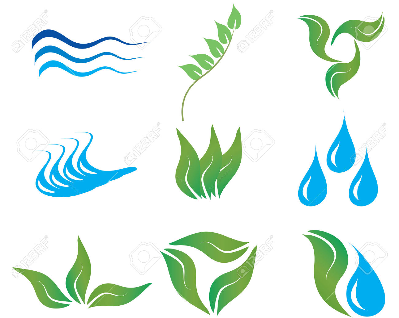 River logo clipart banner royalty free library Ecology And Botanic Icons For Design Use Royalty Free Cliparts ... banner royalty free library