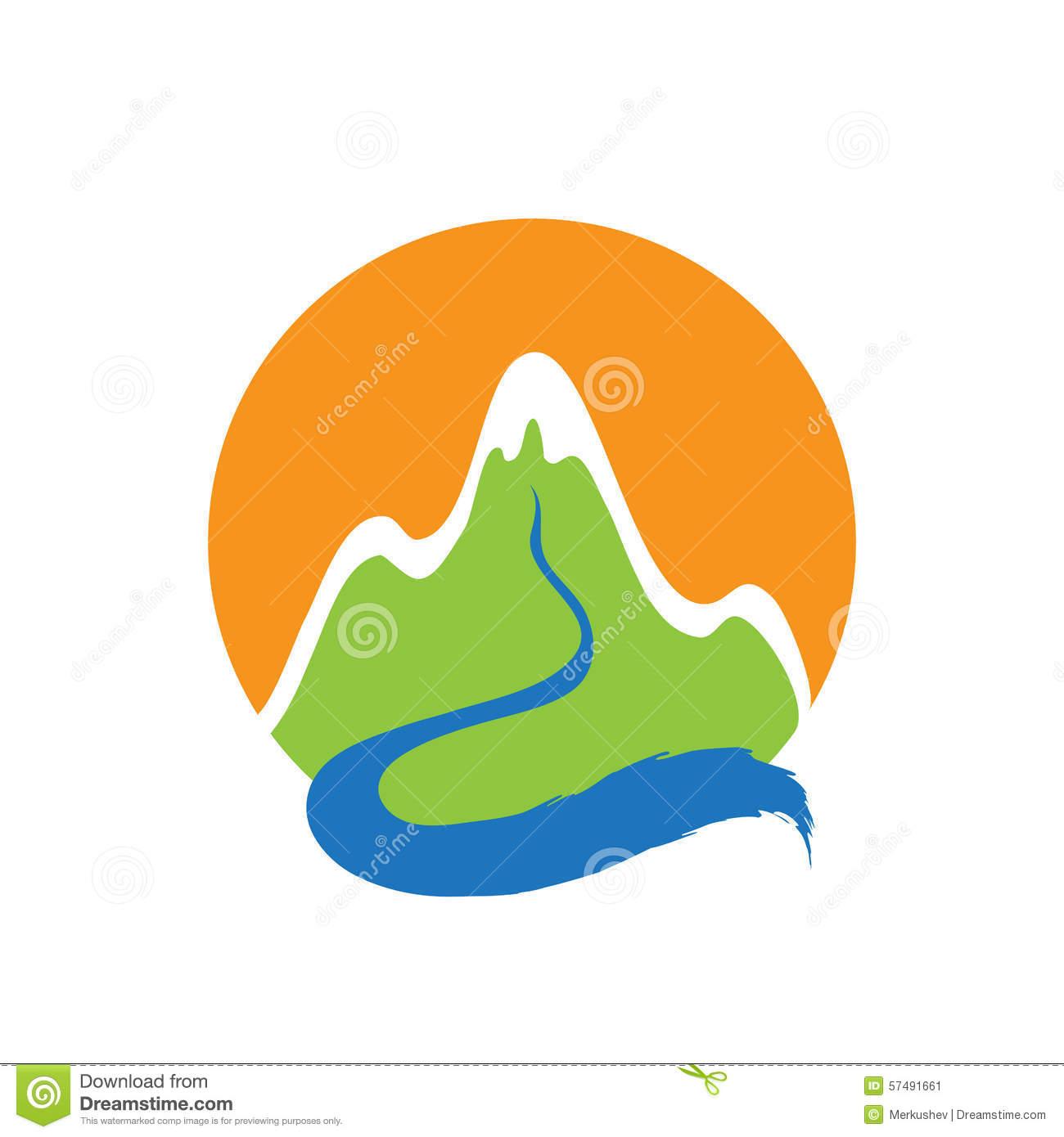 River logo clipart vector free stock Mountain And River, Vector Logo Stock Vector - Image: 57491661 vector free stock