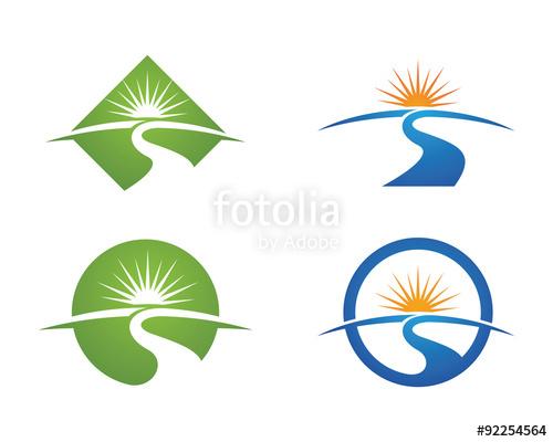 River logo clipart jpg black and white stock S River Landscape Logo Template