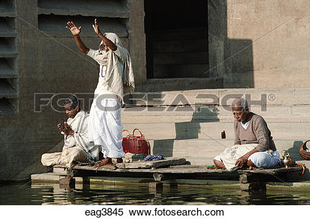 River pray clipart picture download Stock Image of HINDU MEN PRAY and perform spiritual ablutions by ... picture download