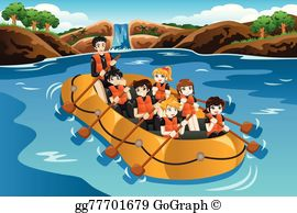 White water rafting image clipart clip art library River Rafting Clip Art - Royalty Free - GoGraph clip art library