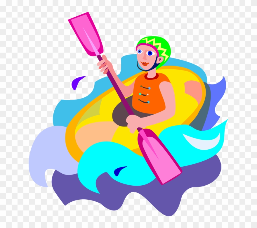 White water rafting image clipart picture black and white stock Vector Illustration Of Extreme Water Sports Whitewater ... picture black and white stock