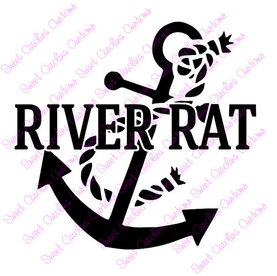 River rat clipart clipart freeuse library River Rat Car Decal-Towboater Deckhand Captain clipart freeuse library