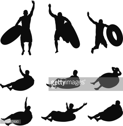 River tubing clipart graphic free Clipart inner tube silhouette - ClipartFest graphic free