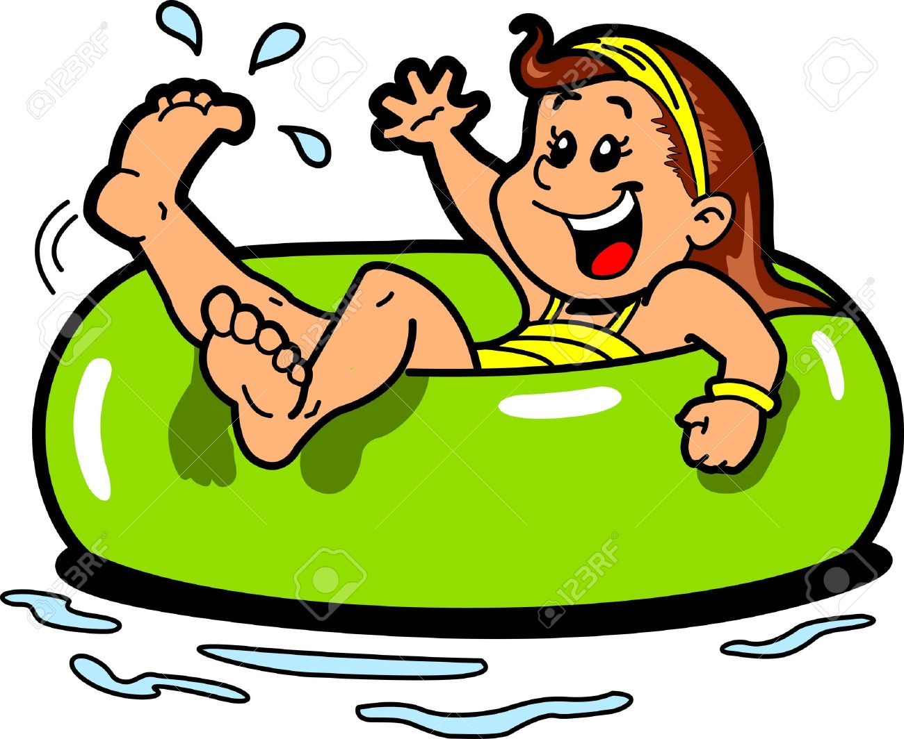 River tubing clipart freeuse download Inner tube float clipart - ClipartFest freeuse download
