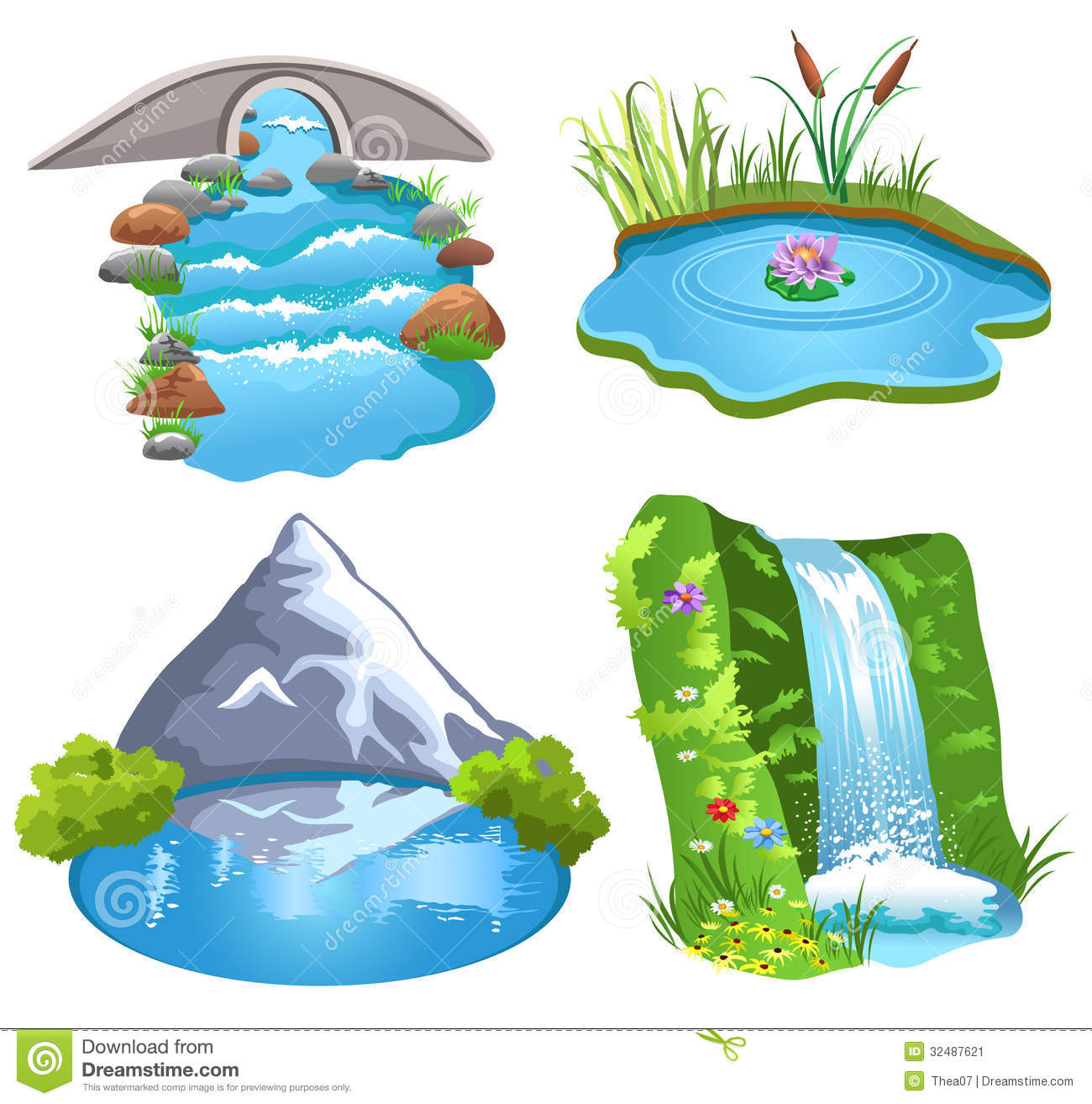 River water clipart