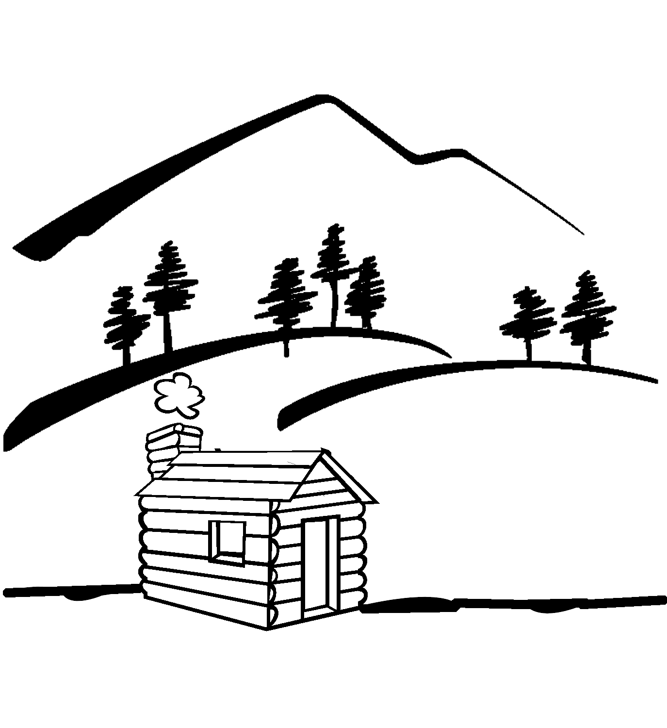 Cartoon mountain lake and tree clipart black and white clip art royalty free Free Black And White River Clipart, Download Free Clip Art ... clip art royalty free