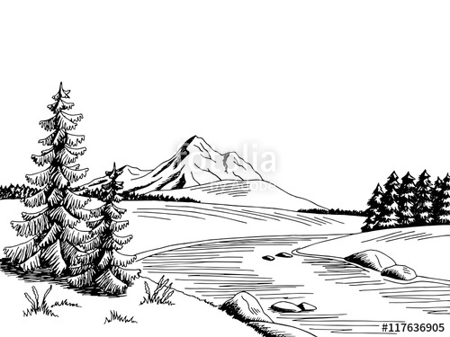 River water river clipart black and white svg royalty free stock Mountain river graphic art black white landscape sketch ... svg royalty free stock