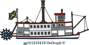 Riverboat images clipart transparent library Riverboat Clip Art - Royalty Free - GoGraph transparent library