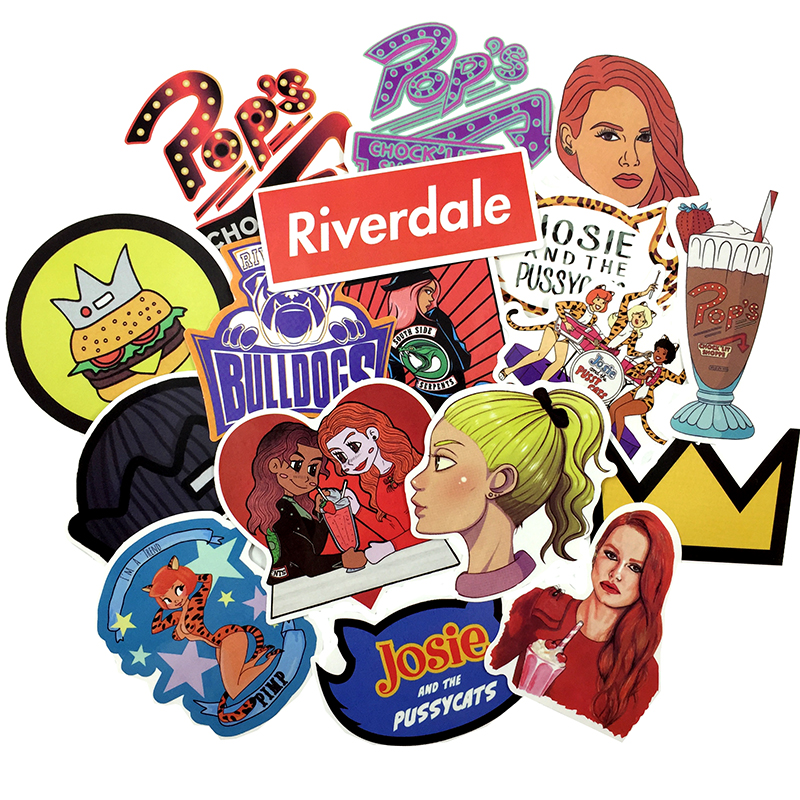 Riverdale clipart pack picture transparent library Riverdale Sticker Pack – 30 Pieces | The Amazing Sticker Co picture transparent library
