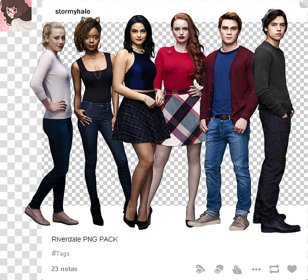 Riverdale clipart pack jpg black and white Riverdale, standing men and women transparent background PNG ... jpg black and white