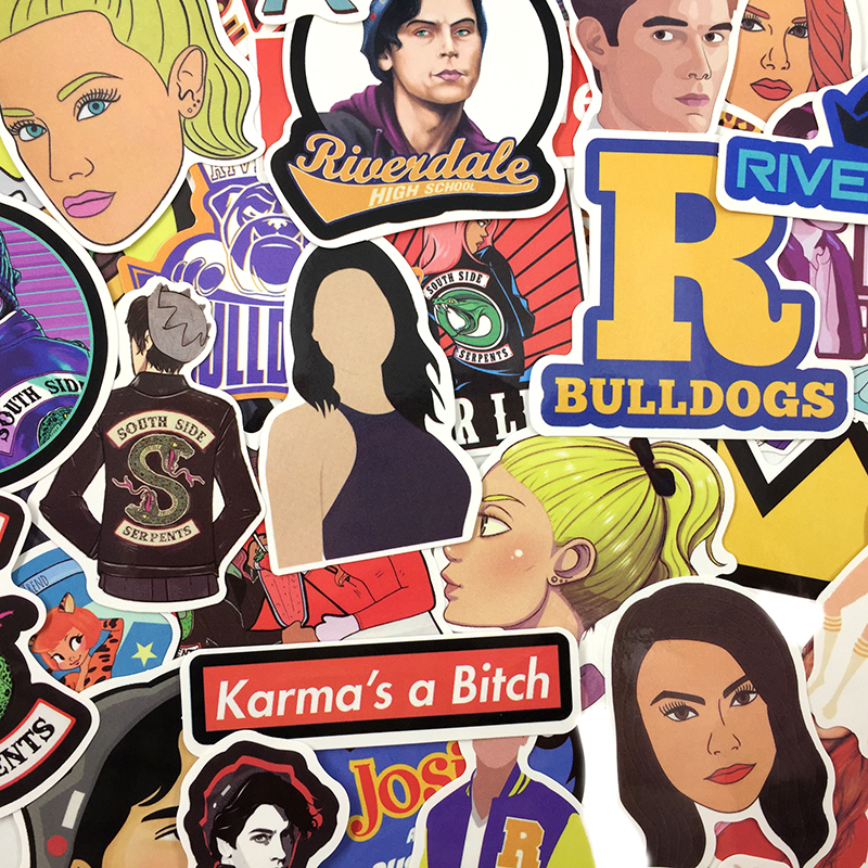 Riverdale clipart pack picture library library Riverdale Sticker Pack – 30 Pieces | The Amazing Sticker Co picture library library