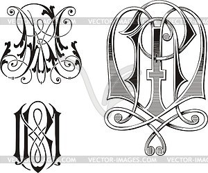 Rm clipart clip black and white library Monogram RM - vector clipart clip black and white library