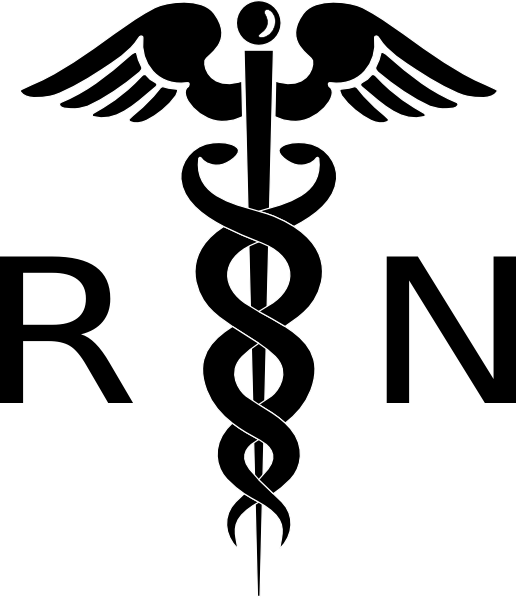 Rn logo clip art black and white Nurse Symbol Clipart - Clipart Kid black and white