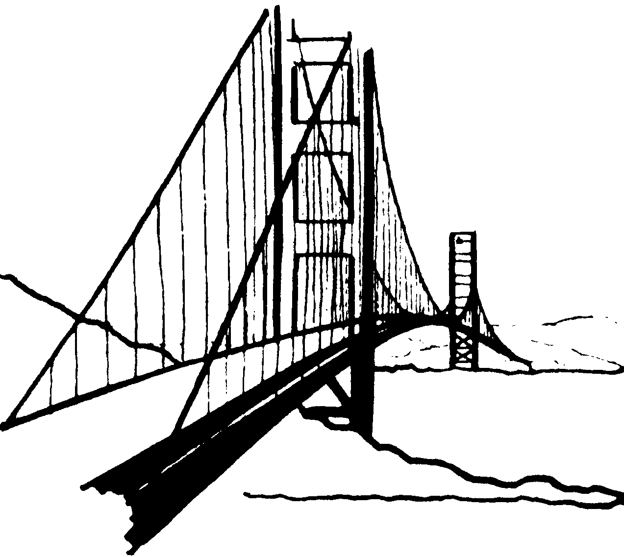 Road bridge clipart graphic free Road Clipart Black And White | Free download best Road ... graphic free