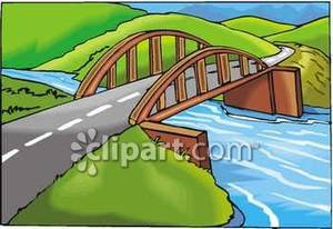 Road bridge clipart png royalty free library Wooden Arch Bridge Over a Creek - Royalty Free Clipart Picture png royalty free library