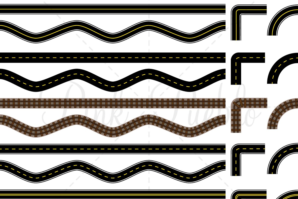 Road clipart vector picture transparent stock Road and Track Clipart & Vectors picture transparent stock