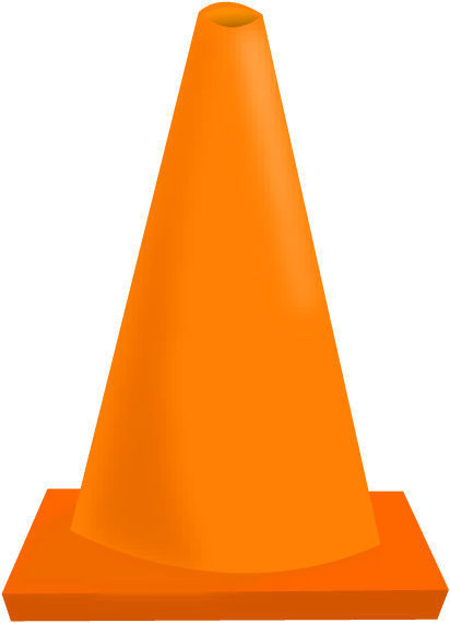 Road cones clipart png Construction Cone Clipart | Free download best Construction ... png