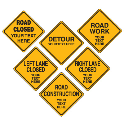 Road construction signs clipart svg download Semi-Custom Road Construction Signs svg download