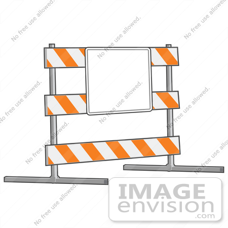 Road construction site clipart jpg royalty free download Clip Art Graphic of a Road Block Posted With A Blank Sign In A ... jpg royalty free download