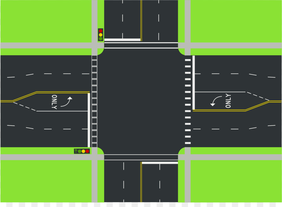 Road intersection clipart clipart transparent Traffic Light Cartoon png download - 2000*1435 - Free ... clipart transparent