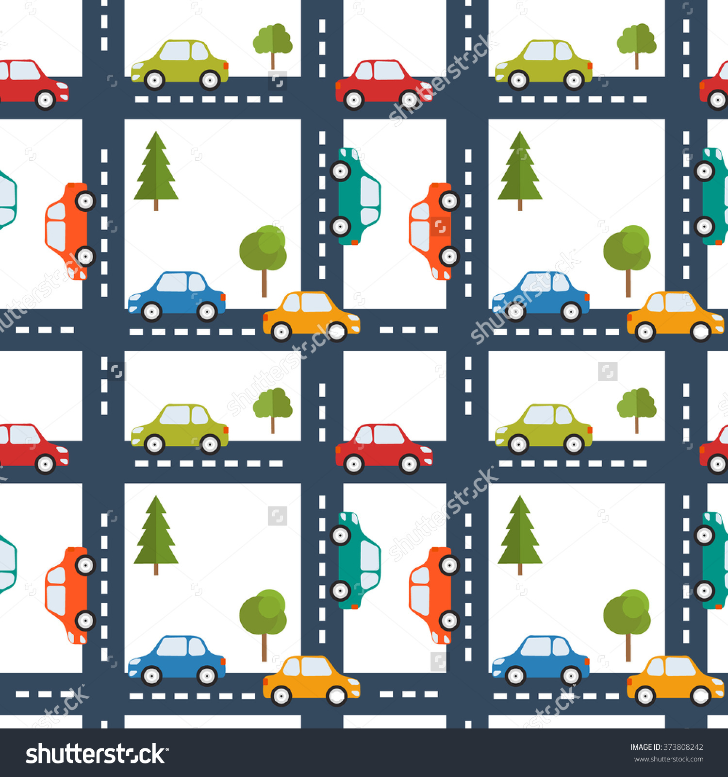 Road map background clipart clip freeuse Bright Seamless Background Road Cars Road Stock Vector 373808242 ... clip freeuse