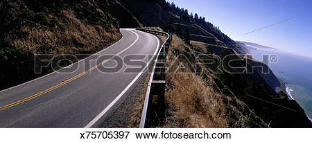 Road number 1 clipart jpg library library Picture of ROUTE NUMBER 1 NEAR JENNER, CALIFORNIA x75705397 ... jpg library library