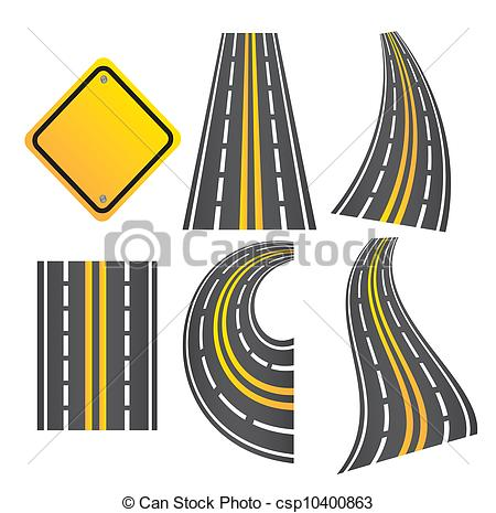 Road s clipart jpg library stock Clip Art Vector of Roads - roads in different ways with a road ... jpg library stock