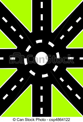 Road s clipart clip free Clip Art of Road junction - Roads of different directions converge ... clip free