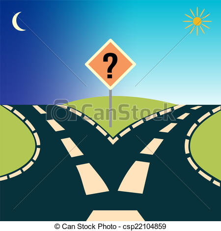 Road s clipart jpg black and white Two roads clipart - ClipartFest jpg black and white