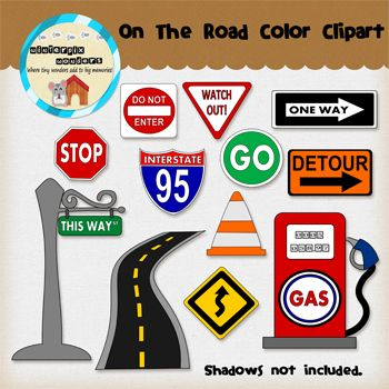 Road s clipart picture freeuse download Clipart: On The Road - Road Signs | The road, Roads and The o'jays picture freeuse download