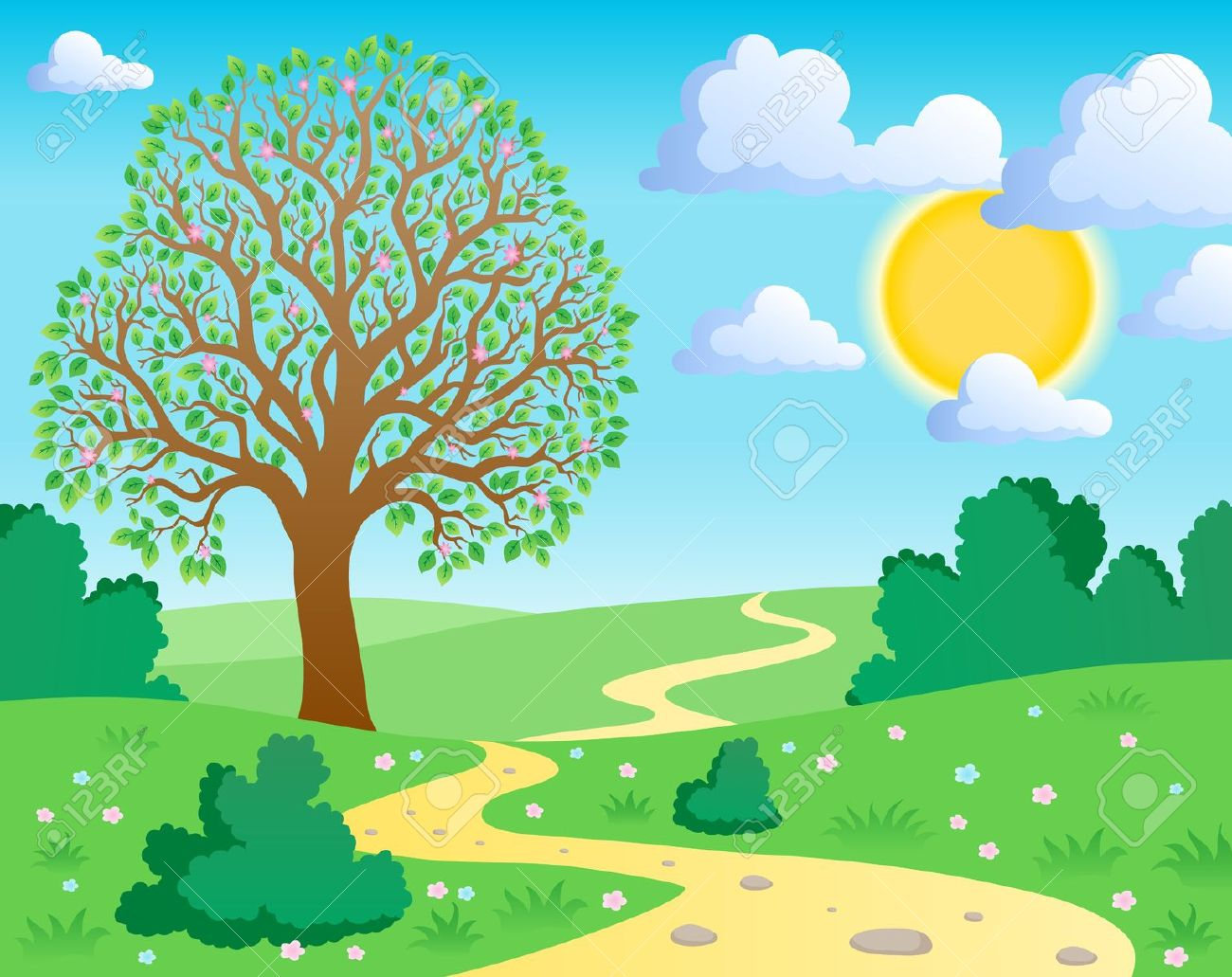 Road scene clipart jpg transparent download Road clipart nature scene for free download and use images ... jpg transparent download