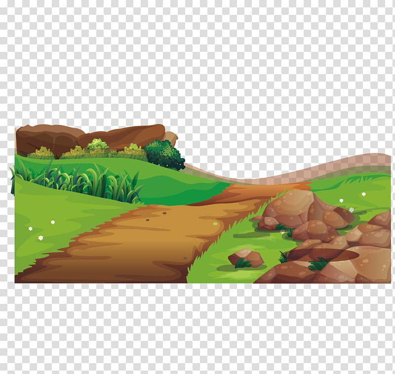 Road scene clipart clip library stock Scenery of plain field illustration, Adobe Illustrator ... clip library stock