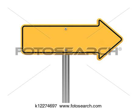 Road sign arrow clipart picture free download Stock Illustration of Directional Arrow Road Sign. k12274697 ... picture free download