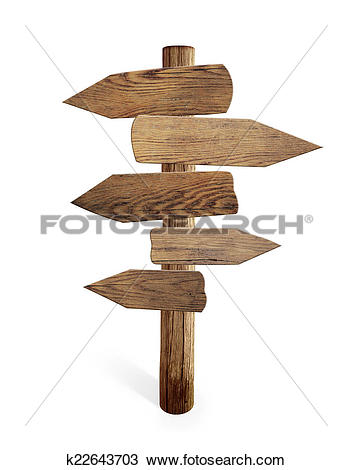 Road sign arrow clipart jpg library download Stock Photo of Old wood road sign arrows isolated k22643703 ... jpg library download