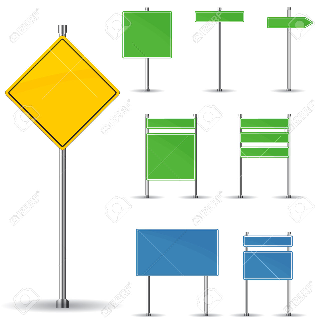Road sign arrow clipart svg library stock Blank Road Signs Board And Arrow Vector Royalty Free Cliparts ... svg library stock