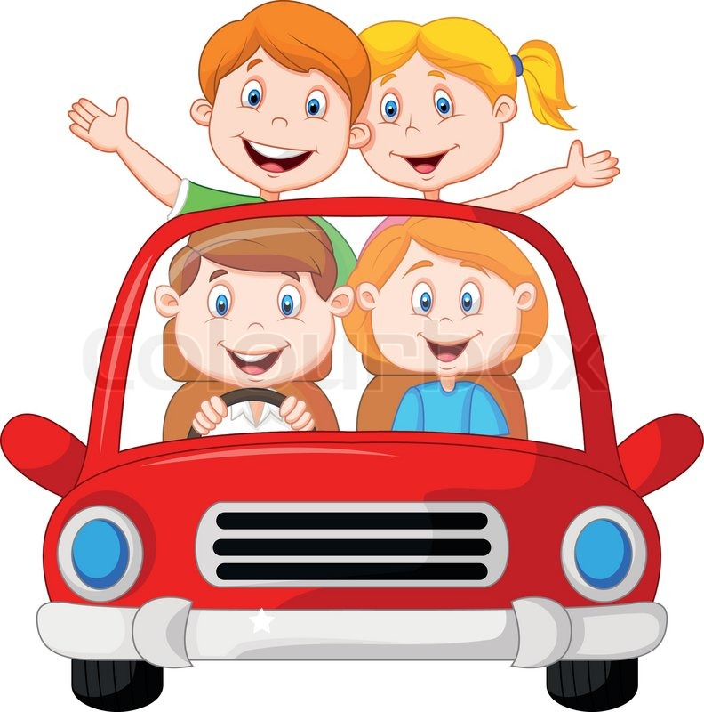 Road trip african american family clipart vector transparent stock Family Picture Cartoon   Free download best Family Picture ... vector transparent stock