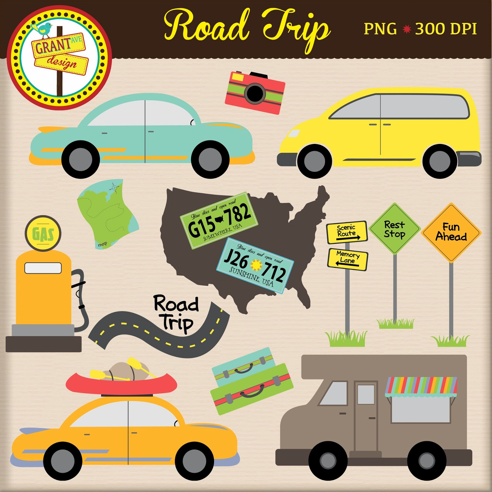 Road trip map clipart svg library download College Road Trip Clipart - Clipart Kid svg library download