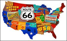 Road trip map clipart graphic download Route 66 road trip clipart - ClipartFest graphic download