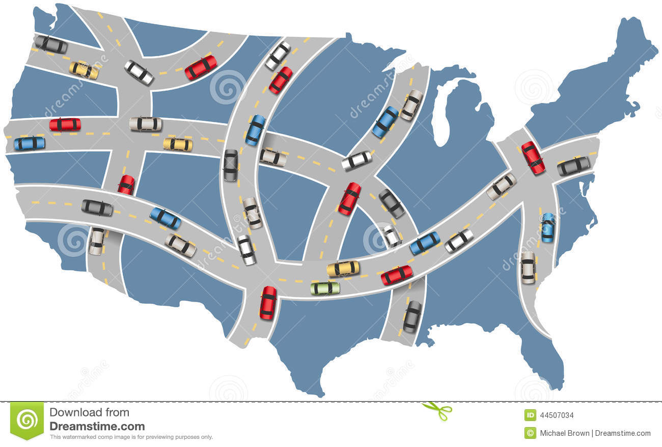 Road trip united states clipart graphic free stock US Road Map Clip Art – Clipart Free Download graphic free stock