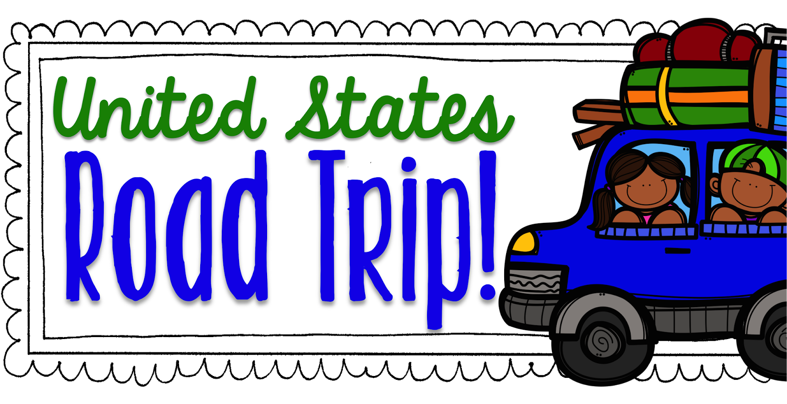 Road trip united states clipart svg royalty free The Primary Gal: United States Road Trip! svg royalty free