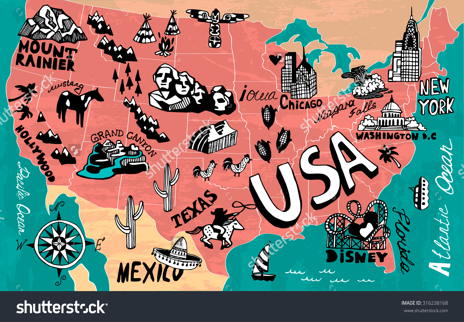 Road trip united states clipart banner black and white library Us road map clipart - ClipartFest banner black and white library