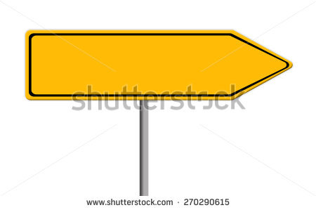 Road with arrow clipart image freeuse library Blank Yellow Road Sign Template Text Stock Illustration 270290615 ... image freeuse library