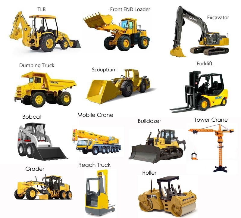 Road work machinery clipart graphic library stock Different types of Earth Moving Machines – Daya Charan and ... graphic library stock