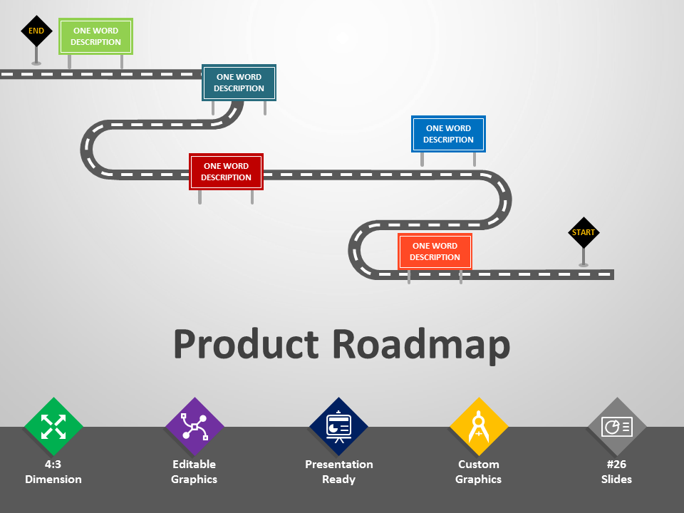 Technology roadmap clipart download Product Roadmap PowerPoint Template download