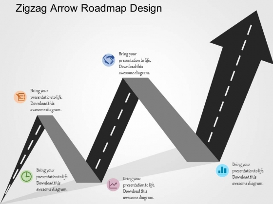Roadmap with arrow clipart clip art library download Zigzag Arrow Roadmap Design PowerPoint Templates - PowerPoint ... clip art library download
